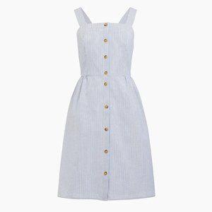 J. Crew Factory Button-Front Seersucker Dress